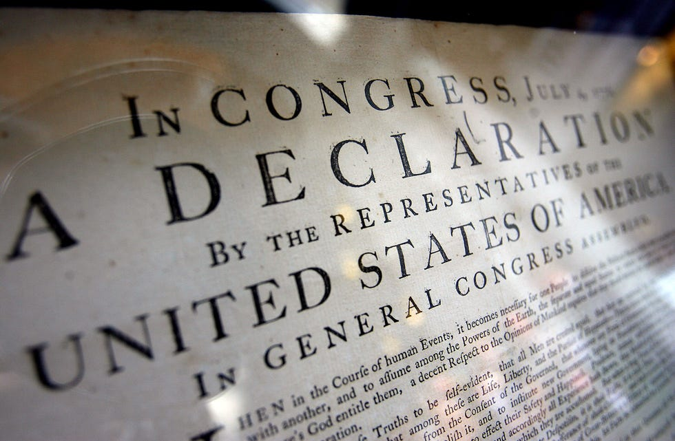 An original copy of the Declaration of Independence was on display at the Utah State Capitol on August 15, 2008. Laura Seitz, Deseret News (courtesy)