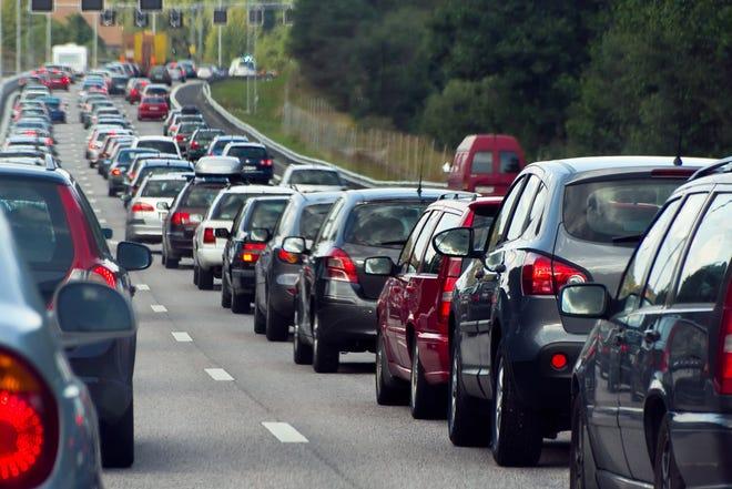 Un long embouteillage.