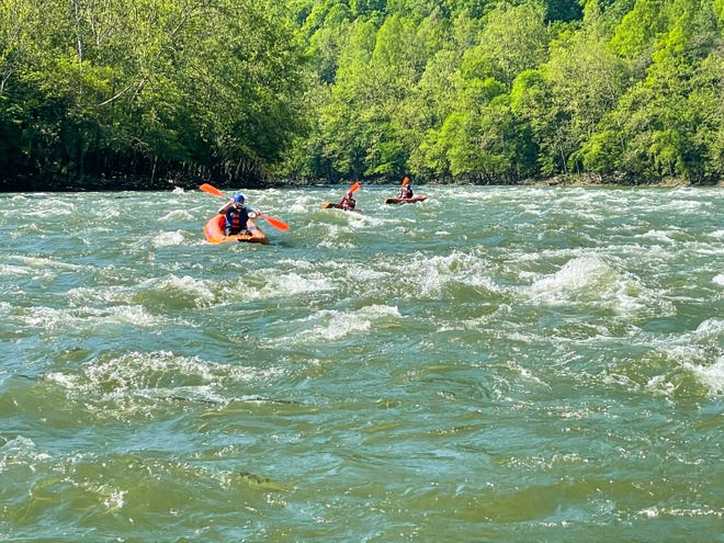 Kayakers on the Upper New River