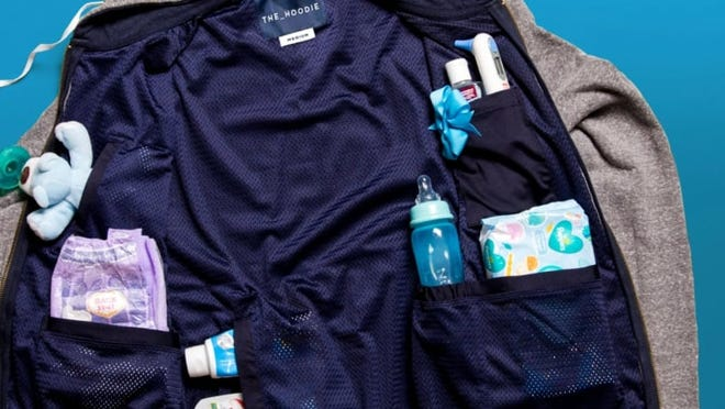 It's like a utility belt for new dads--in a hoodie!