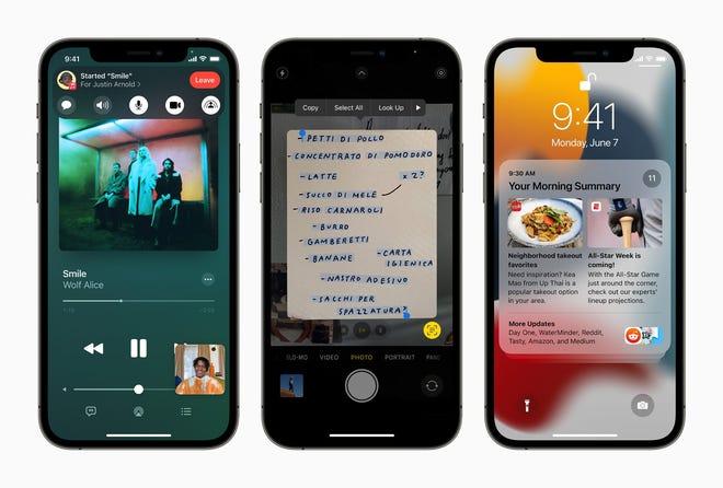 iPhones running iOS 15
