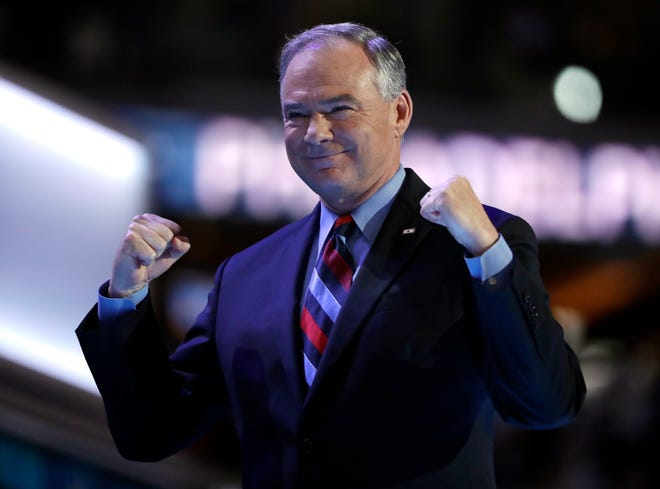 In a press conference following the vote, Kaine said it was exciting to see the bill passed and it had been long awaited. (AP Photo/Matt Rourke)