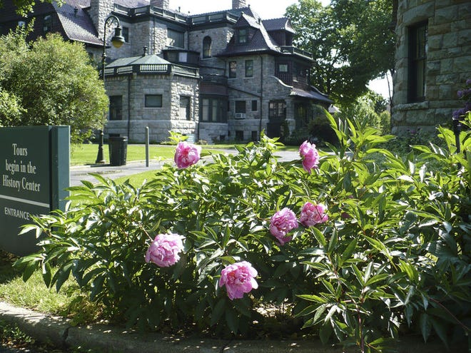 The historic Oliver Gardens next to the Oliver Mansion at The History Museum in South Bend. Photo provided/The History Museum