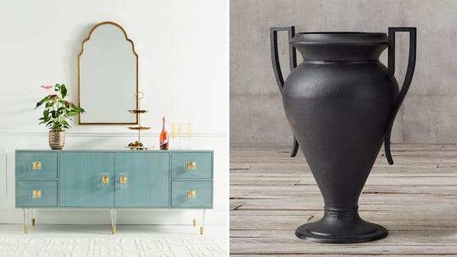 Art deco decor is finding its way in mainstream retailers like Anthropologie and Restoration Hardware.