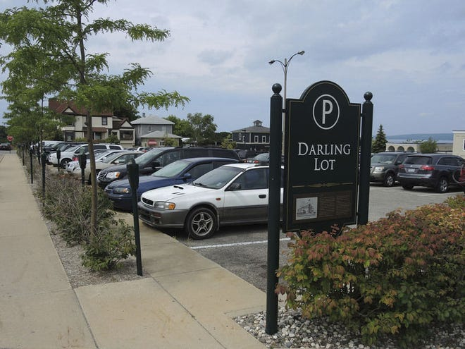 The Darling Lot — one of downtown Petoskey's metered public parking areas —is shown. (File photo)