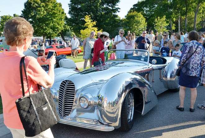 The Falconer V-12 Roadster owned by Mike Jahns was one of the many cars on display in a previous Harbor Springs Car Festival.