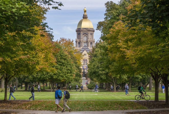 The Golden Dome at the University of Notre Dame.File photo