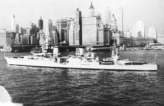 The USS Indianapolis was torpedoed by the Japanese on July 30, 1945. File photo