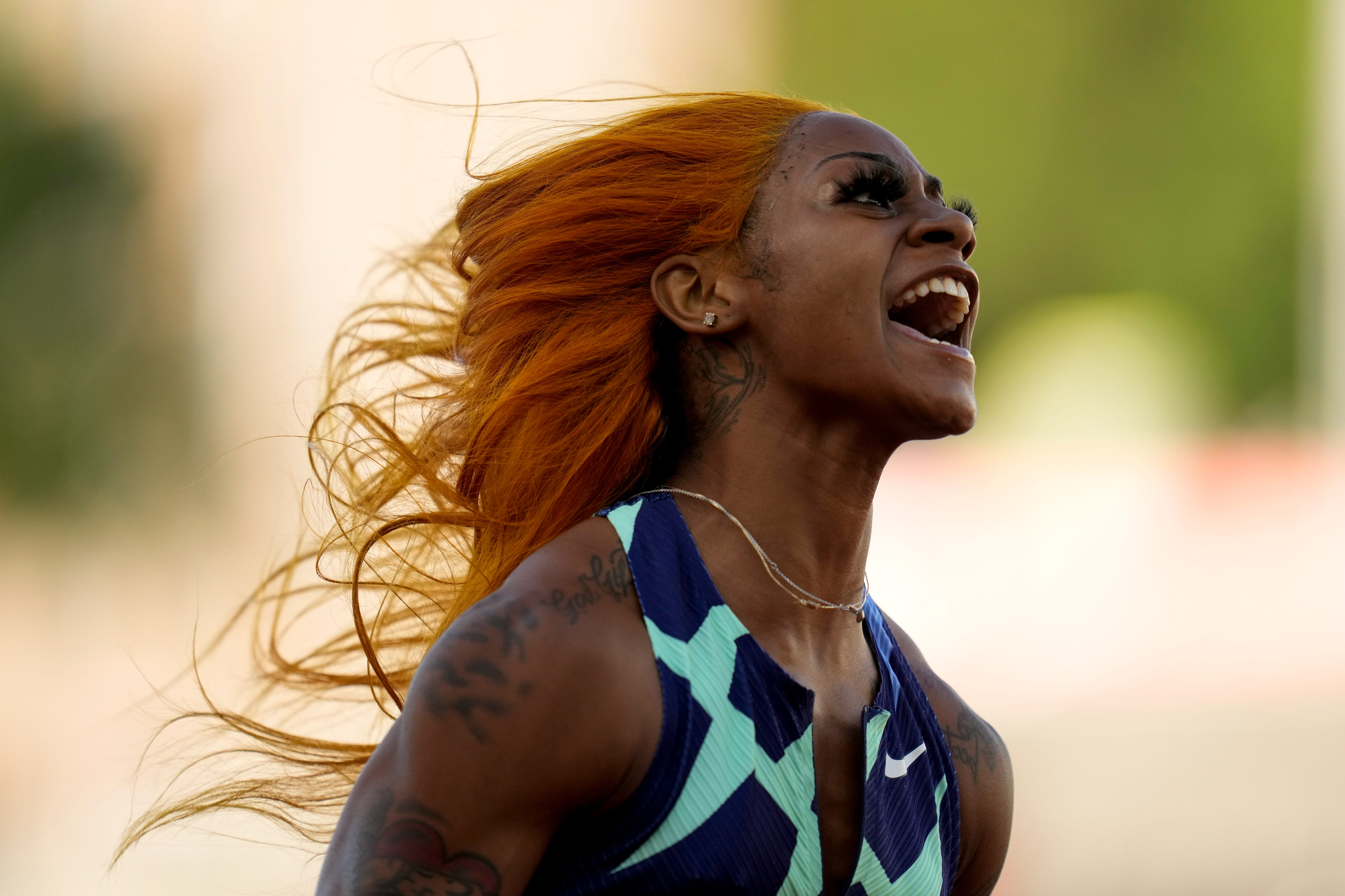 Sha Carri Richardson dominates 100 meters in style to clinch trip to Tokyo Olympics