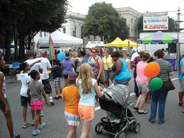 Celebrate! The Arts at Old Market Day attracted large crowds to downtown Chambersburg, Pa., throughout the day on Saturday.