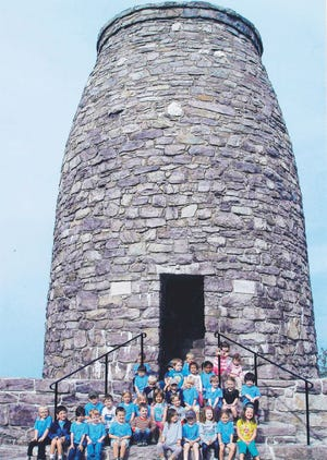 The children of Northern Cross Children's Learning Center visited the Washington Monument near Boonsboro recently with their teachers and families.