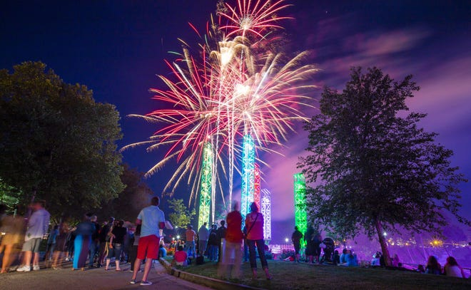 Fireworks explode over the St. Joseph River during the 2017 Best Fireworks Ever display.
