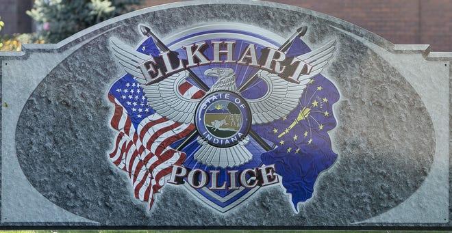 Elkhart Police sign in front of station in Elkhart. SBT Photo/SANTIAGO FLORES