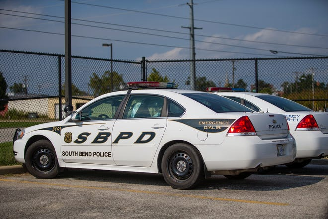 Patrol cars Thursday, Sept. 12, 2019 at the South Bend Police Department.