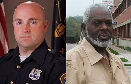 Left: South Bend Police Sgt. Ryan O'Neill Right: Eric J. Logan