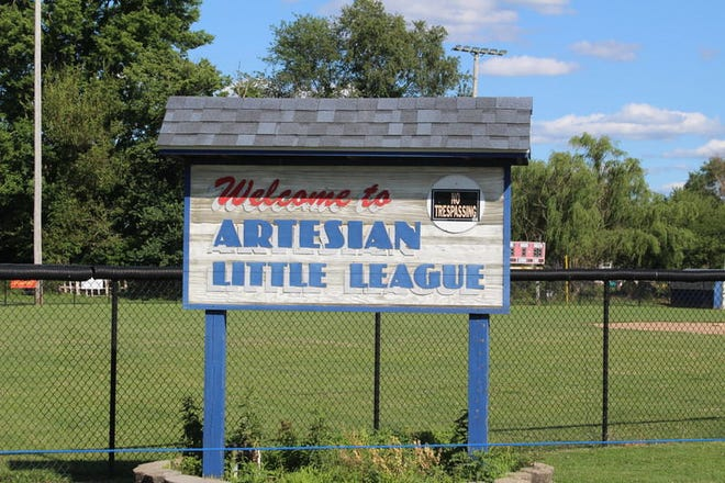 The Artesian Little League ball diamonds are located on the north side of town. (Lance Gideon/File photo)