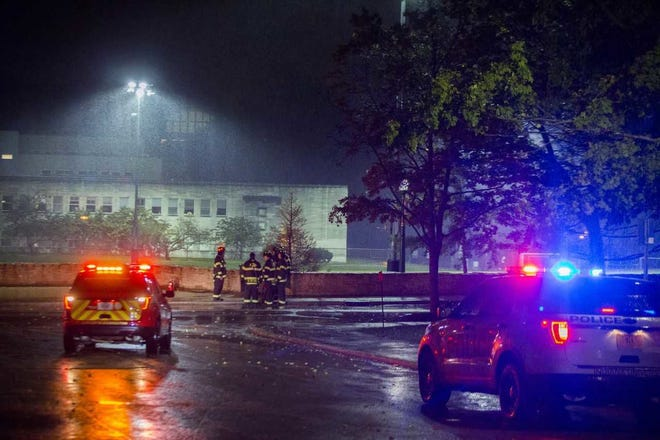 Crews responded Friday night to a report of an underground explosion near the Indiana University campus. No injuries were reported