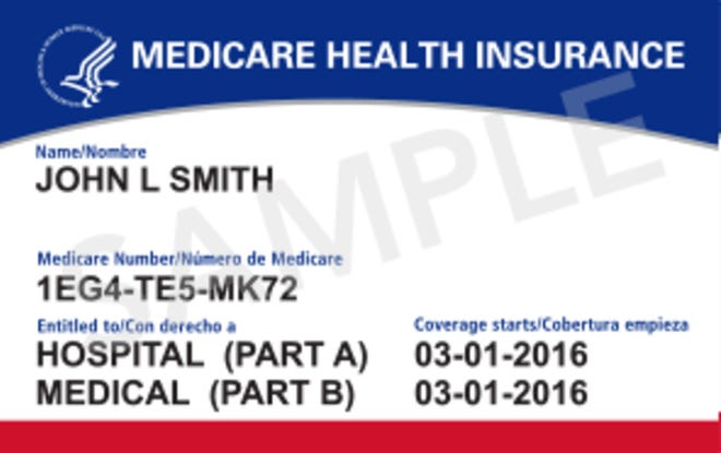 The Centers for Medicare and Medicaid Services has begun mailing new Medicare Health Insurance ID cards. The program no longer uses Social Security numbers to identify people. CMS (courtesy)