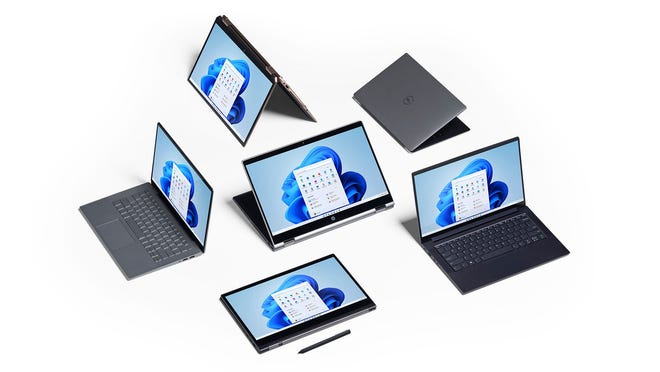 Surface devices running on Windows 11.