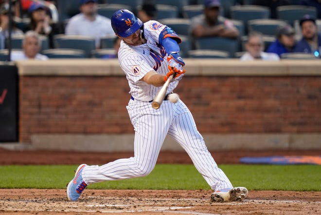 New York Mets' Pete Alonso will again compete in Home Run Derby.