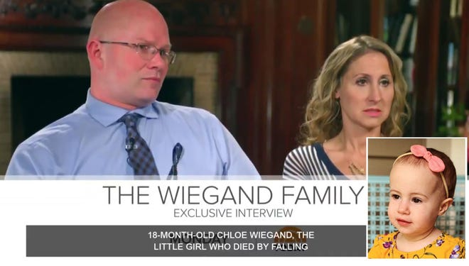 """Alan Wiegand and Kimberly Schultz Wiegand, the parents of Chloe Wiegand, have appeared on  NBC's """"The Today Show."""" This week, a court ruled against them in a lawsuit against Royal Caribbean, the cruise line on which their toddler daughter died in 2019."""