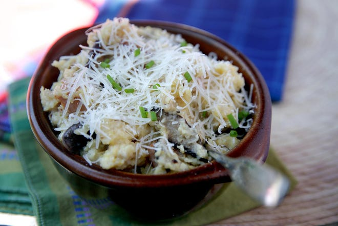Grits Risotto appetizers, Wednesday, June 16, 2021. (Hillary Levin/St. Louis Post-Dispatch/TNS)