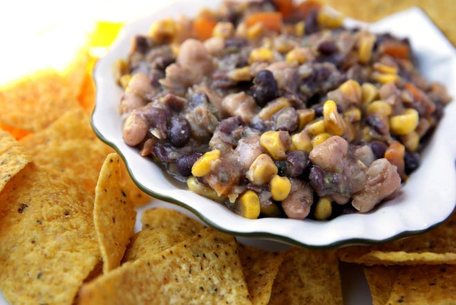 Black and White Bean Salsa appetizers, Wednesday, June 16, 2021. (Hillary Levin/St. Louis Post-Dispatch/TNS)