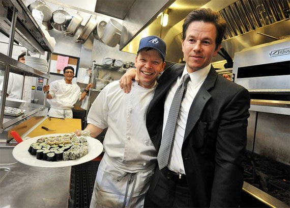 """Chef Paul Wahlberg, left, and his movie-star brother Mark, in the reality TV show """"Wahlburgers."""" The second season is now on DVD. Lionsgate (courtesy)"""