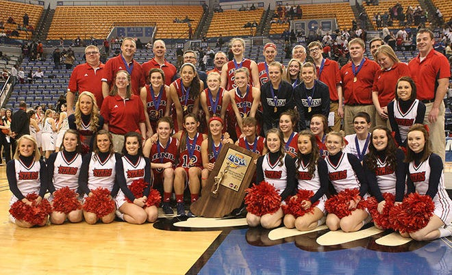 Times-Mail / GARET COBB TERRE HAUTE - The 2014 IHSAA Class 4A State Champions.