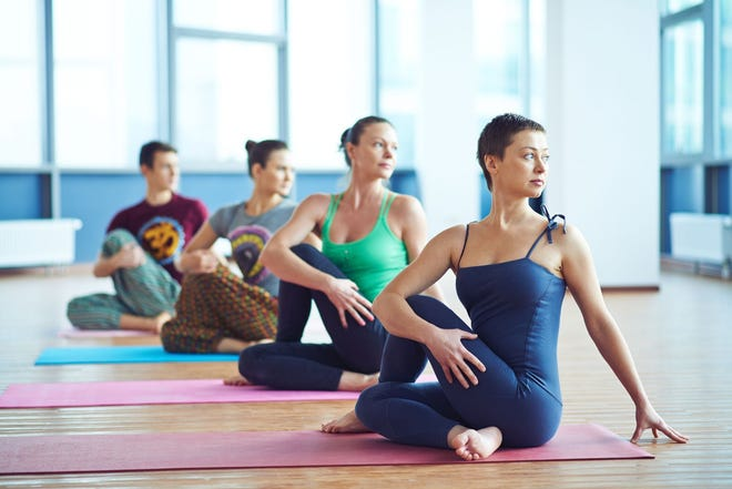 Yoga reduces stress and anxiety, thereby increasing a sense of wellbeing. It also increases the flexibility of the body and range of motion.