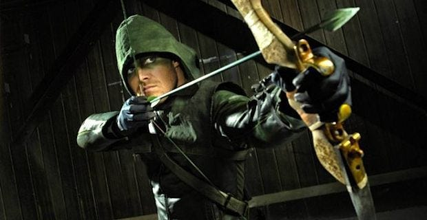 """Stephen Amell played DC Comics' Green Arrow in the CW TV series """"Arrow."""""""