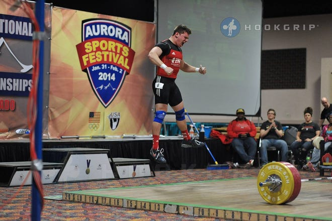 Paul Woelmer celebrates his national title in Denver.Courtesy photo