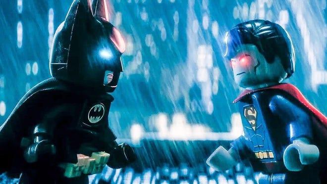 "Batman vs. Superman, Lego-style, in ""The Lego Batman Movie,"" is now on home video platforms. Warner Bros. (courtesy)"