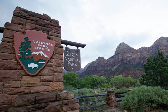 National Park Service data showed Zion National Park saw nearly 676,000 visitors in June, topping a record for one month set during the same period in 2019.