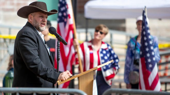 Anti-government activist Ammon Bundy has asked a judge to throw out a guilty verdict in his trespassing case and to acquit him instead because he says the state's trespassing law should not be applied to public property.