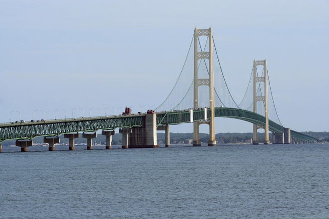 The Mackinac Bridge opened by 5:10 p.m. on Sunday after being closed for several hours after a bomb threat.