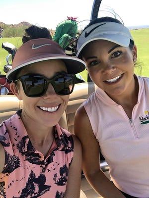 Amanda Robertson (left) and McKenzie Lyng of Backswing Golf Events.