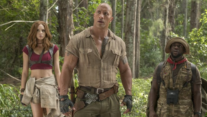 """""""Jumanji: Welcome to the Jungle"""" came out in 2017 and stars Dwayne Johnson, Karen Gillan and Kevin Hart."""