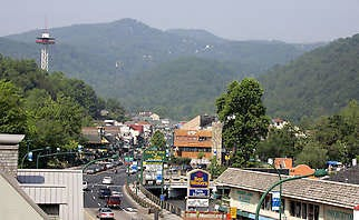 Gatlinburg is headquarters for the park and a huge attraction for hordes of visitors.Courtesy National Park Service