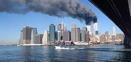 Smoke billows from the towers of the World Trade Center in New York City, Sept. 11, 2001.  Jim Collins   Associated Press