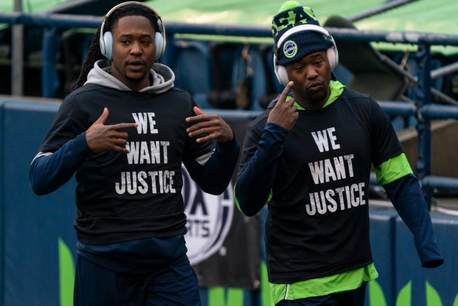Jaguars cornerback Shaquill Griffin (left) has played at the high school, college and NFL level with his brother Shaquem.