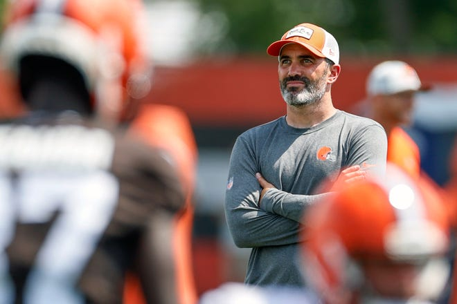 Browns coach Kevin Stefanski asked his team to hold onto the disappointment from last season's playoff loss to the Kansas City Chiefs moving into this season. [Ron Schwane/Associated Press]