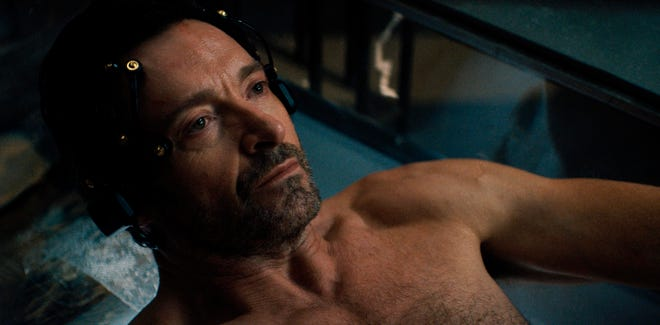 """Hugh Jackman in a scene from """"Reminiscence."""""""