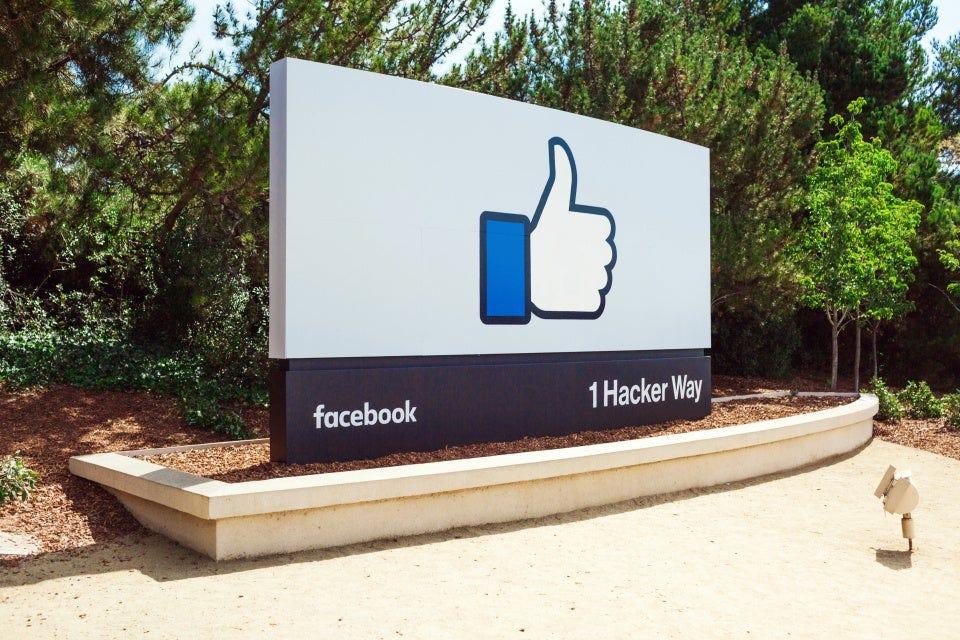 Facebook headquarters in in Menlo Park, Calif.