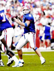 Florida\'s Rex Grossman leads the nation in passing effeciency. AP photo