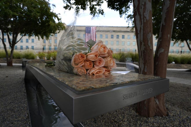 The Pentagon National 9/11 Memorial in Washington, D.C., on Saturday, Sept. 11, 2021. (Yuri Gripas/Abaca Press/TNS)