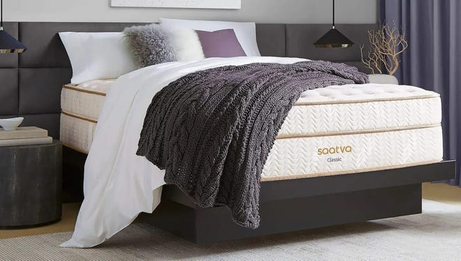 The Saatva Classic has the depth and presentation of mattresses at a luxury resort.