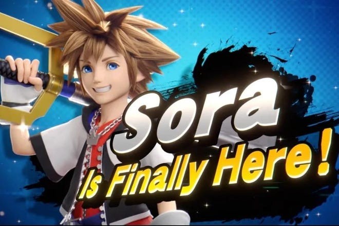 """Sora from the """"Kingdom Hearts"""" gaming series is the final new fighter and will be added to """"Super Smash Bros. Ultimate"""" on Oct. 18."""