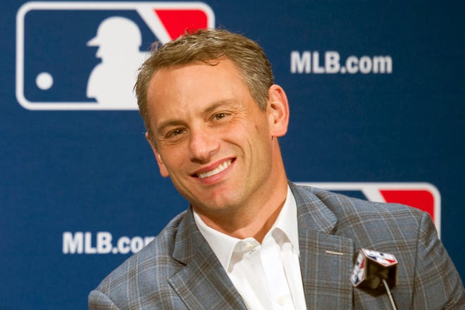 Chicago Cubs President of Baseball Operations Jed Hoyer is expected to announce soon that Cleveland assistant general manager Carter Hawkins will be hired as the new General Manager of the Cubs. [Cliff Owen/Associated Press file]