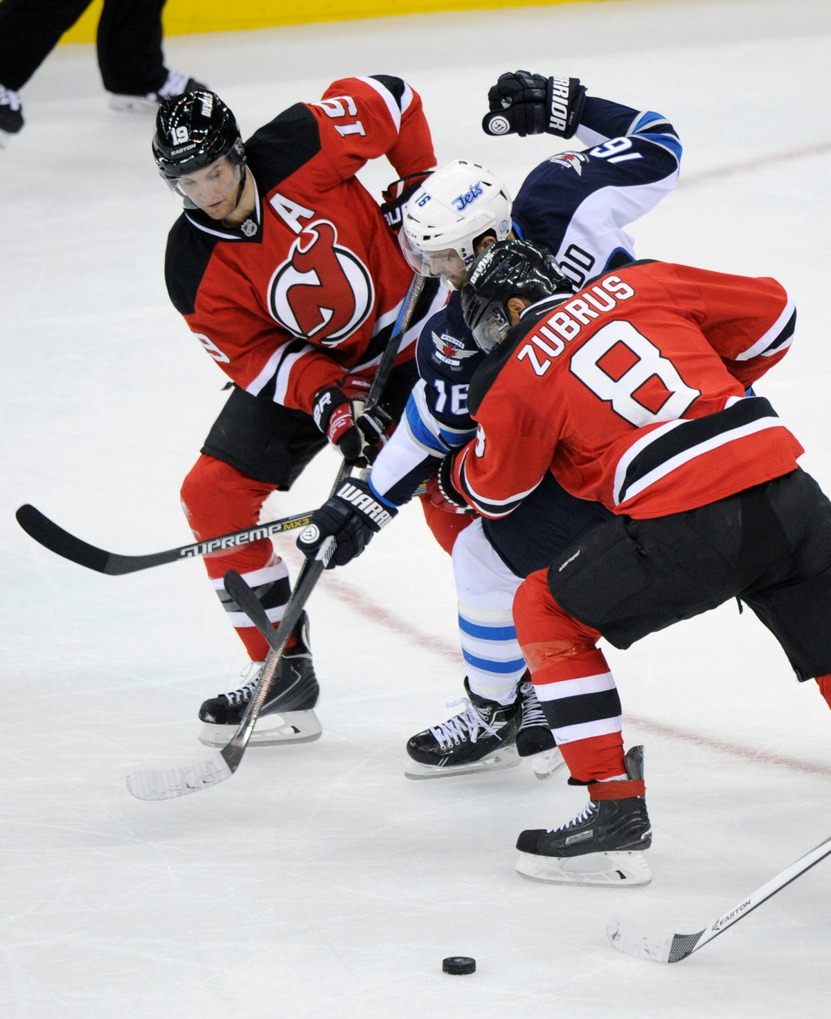 newest 6882f b21f1 New Jersey Devils defeat Winnipeg Jets